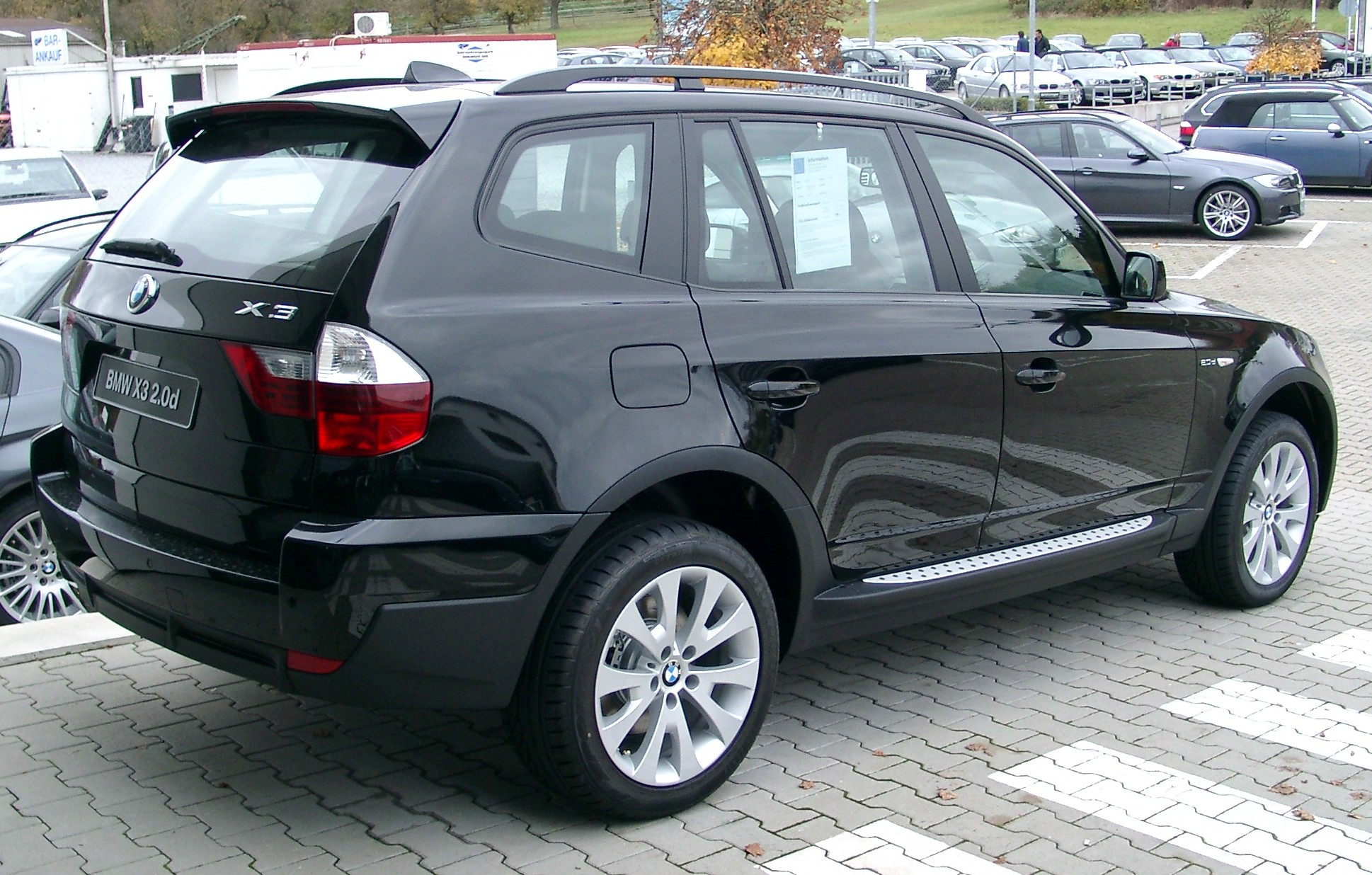 File BMW X3 rear Wikimedia mons