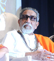 Bal Thackeray India politician w white robe sunglasses wikipedia India's Intolerance