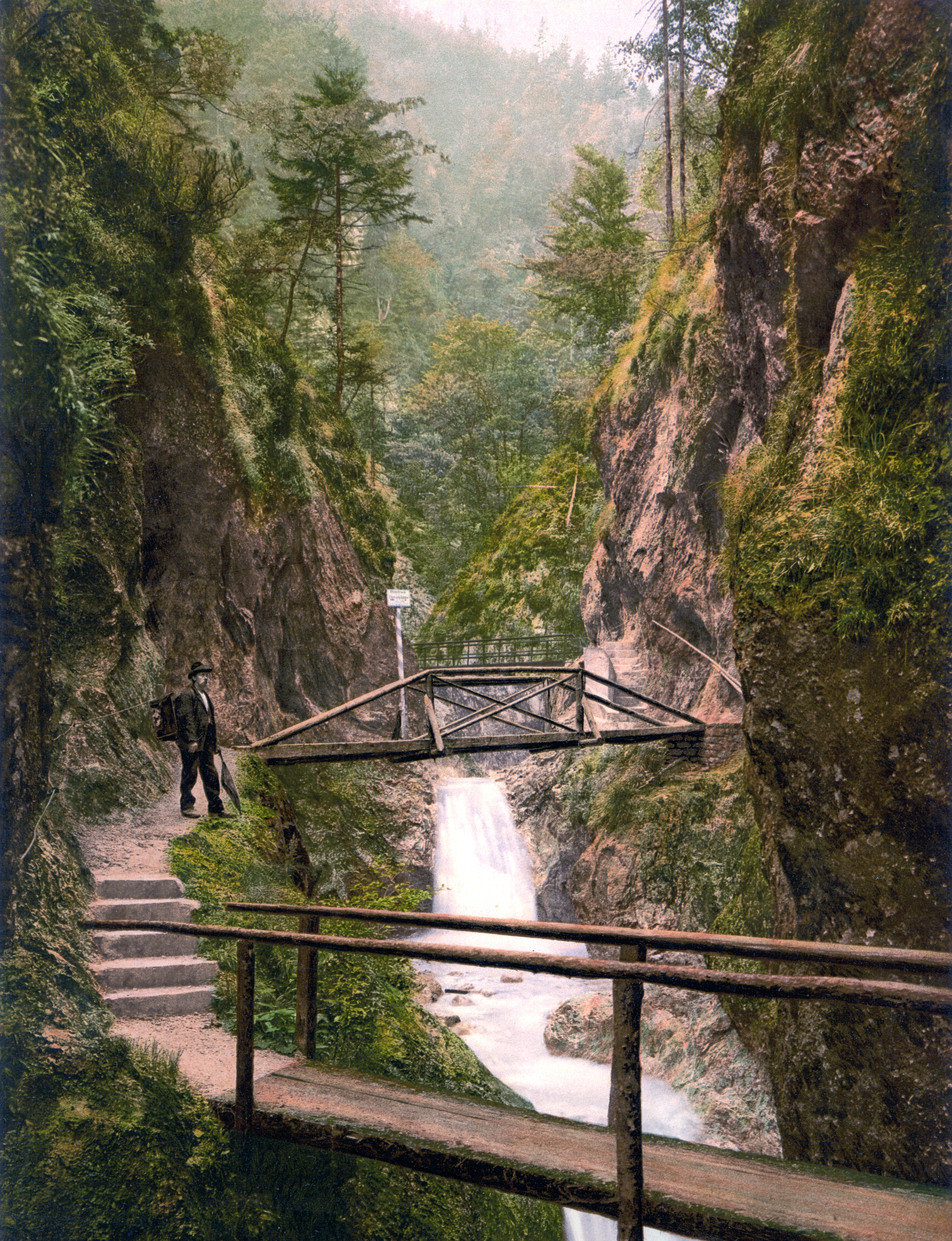 Datei:Berchtesgaden_Almbachklamm_1900 on Color By Number Division