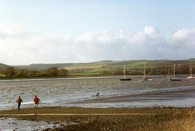 Bere Ferrers, the Tamar by Weir Quay - geograph.org.uk - 95365