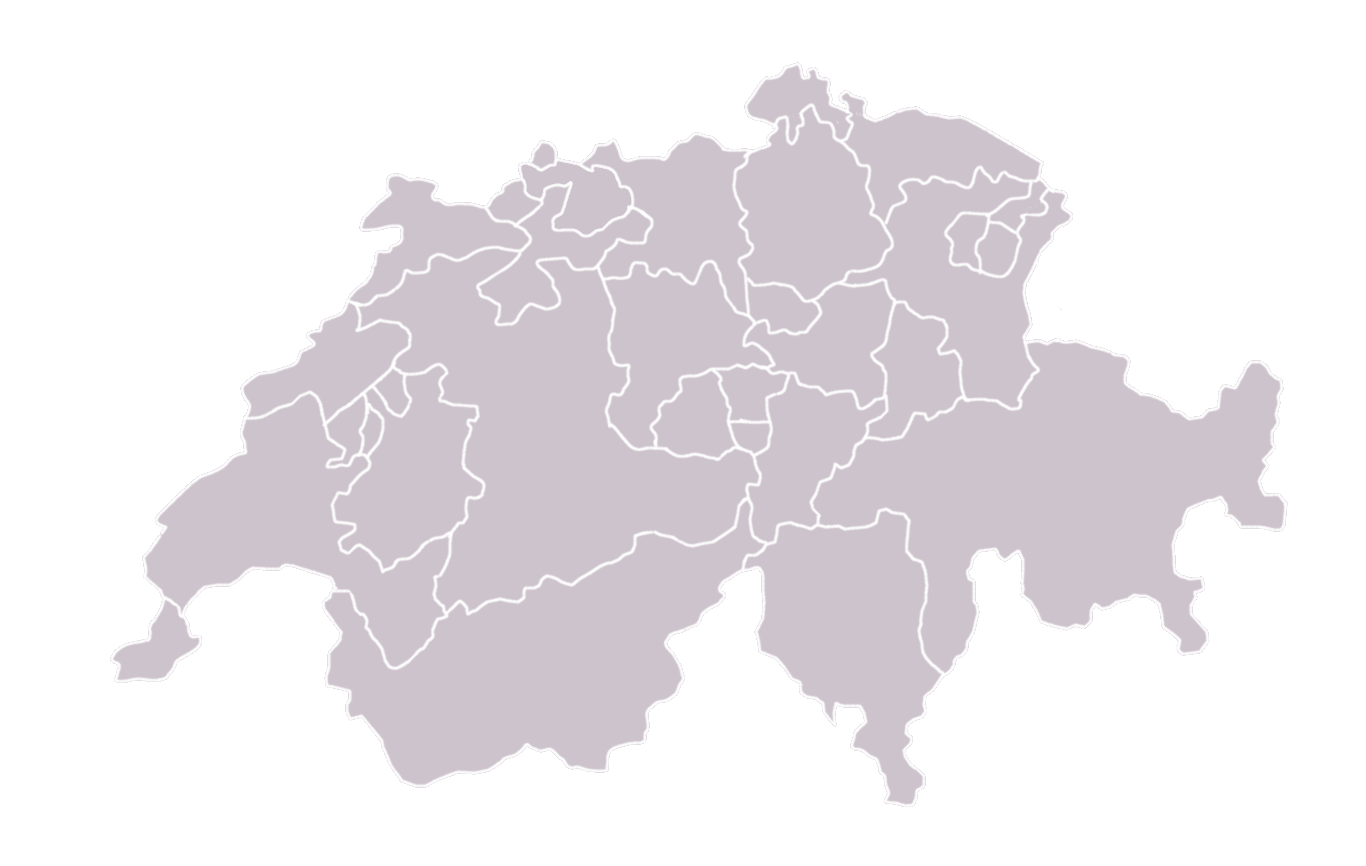 map of switzerland; blank