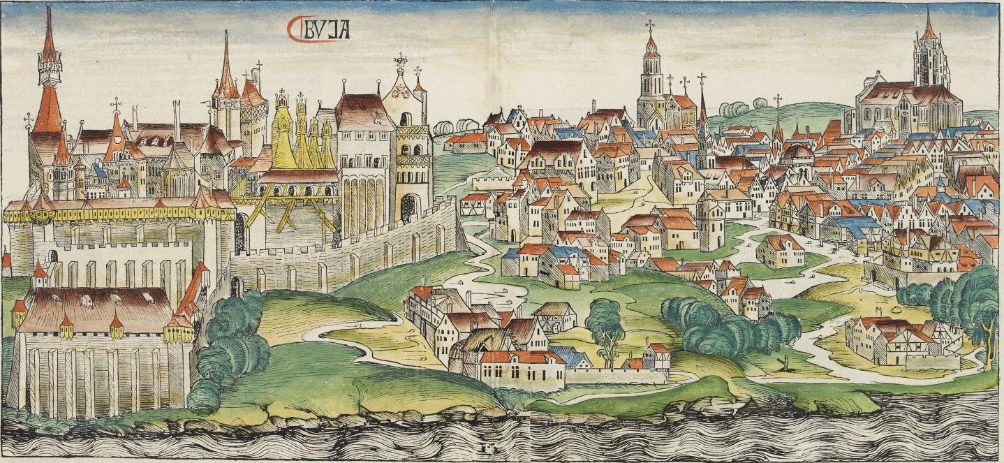 The Hungarian town of Buda (today one half of Budapest) in the Nuremberg Chronicle