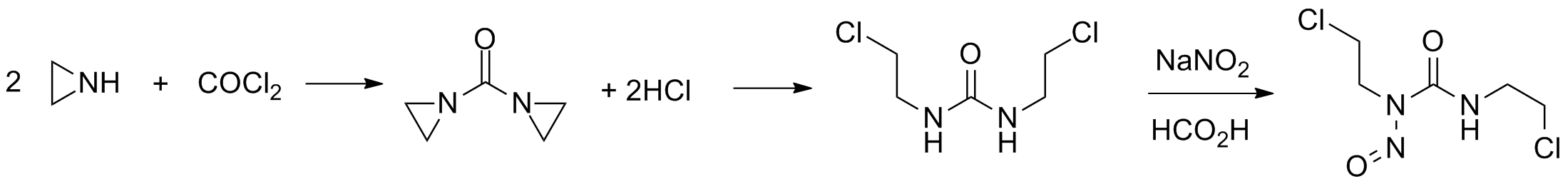 Image result for synthesis of carmustine