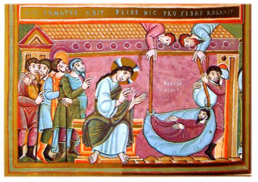 Bildresultat för Jesus and the paralytic Wikimedia