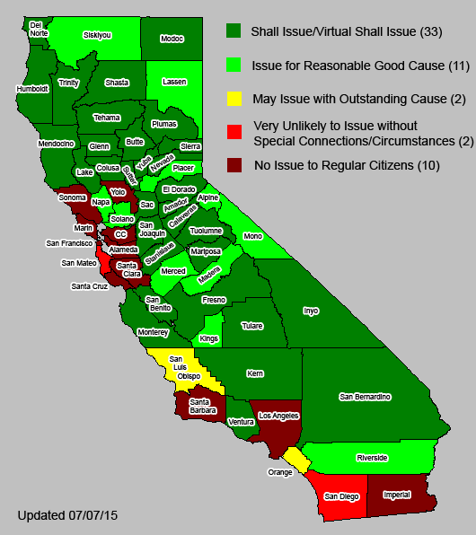 FileConcealed Carry By County In Californiapng Wikimedia Commons - How many counties in california