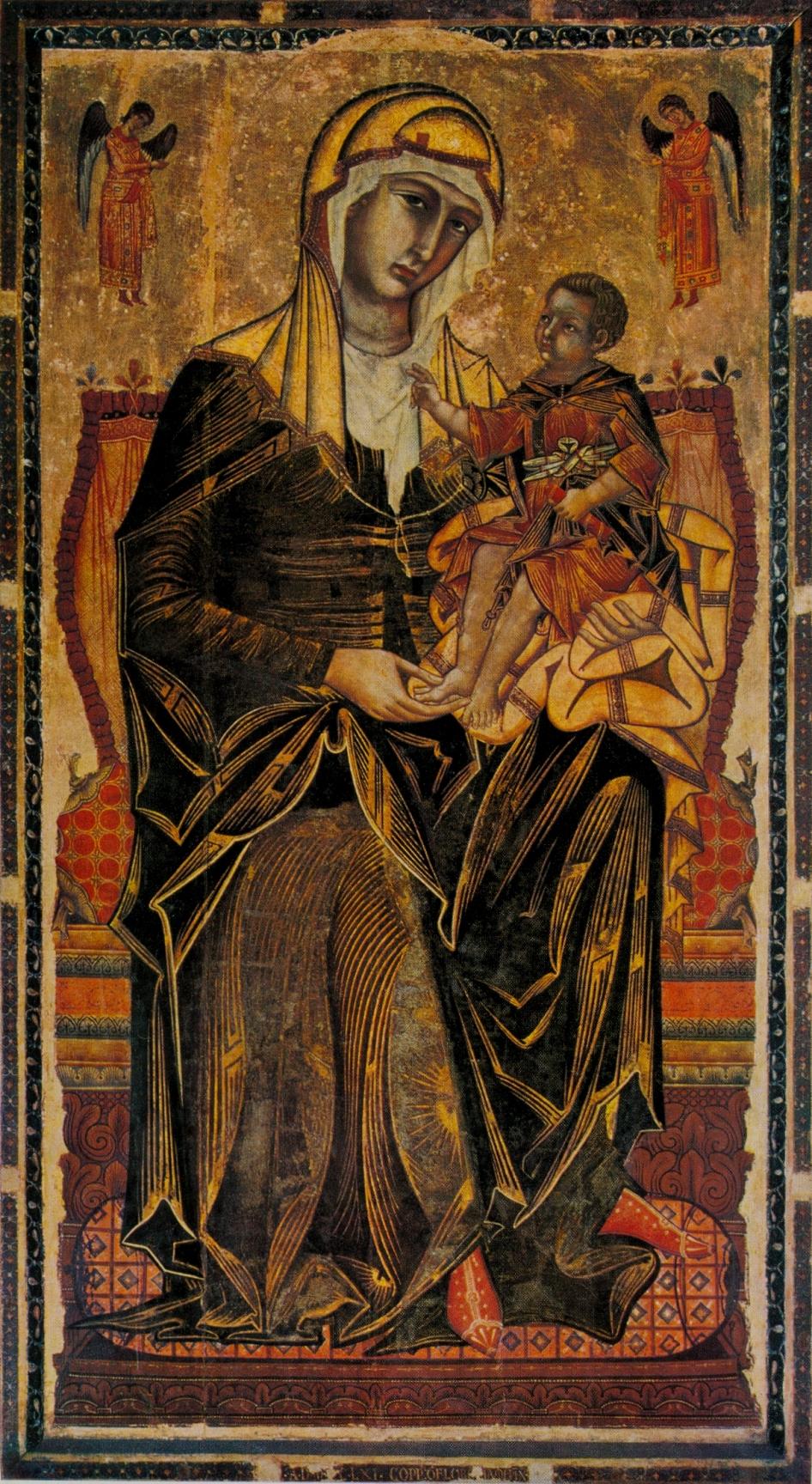 Coppo di marcovaldo, madonna del bordone, siena, chiesa dei servi, 1261 tavola,.jpg
