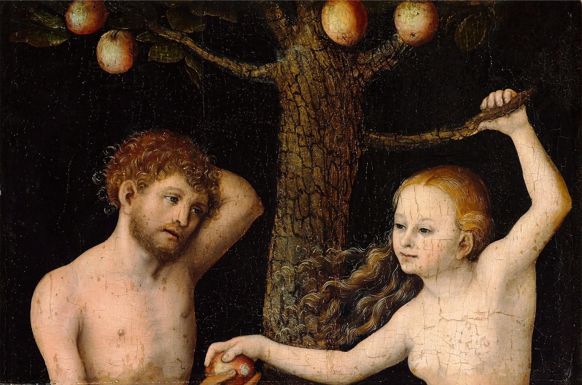 Cranach The Elder Adam And Eve File Cranach Adam And Eve Jpg