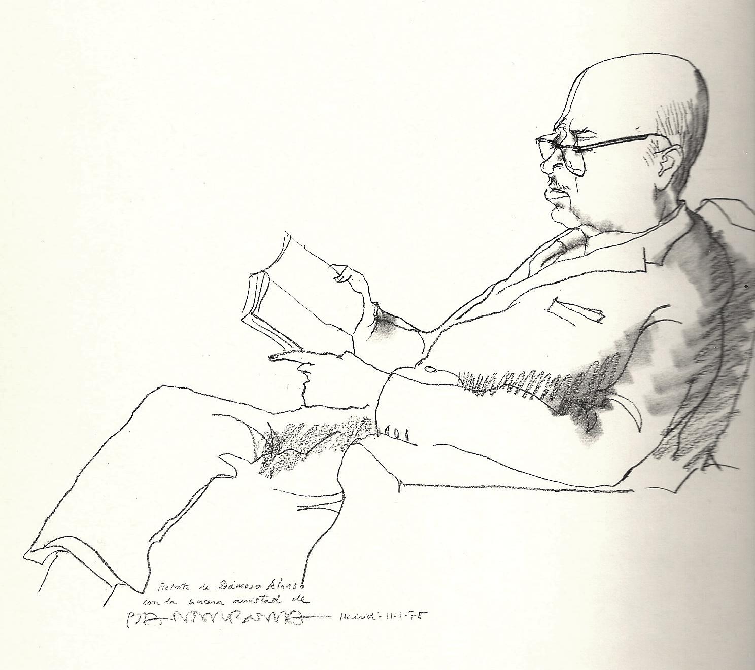 Alonso portrait by [[Josep Pla-Narbona]]