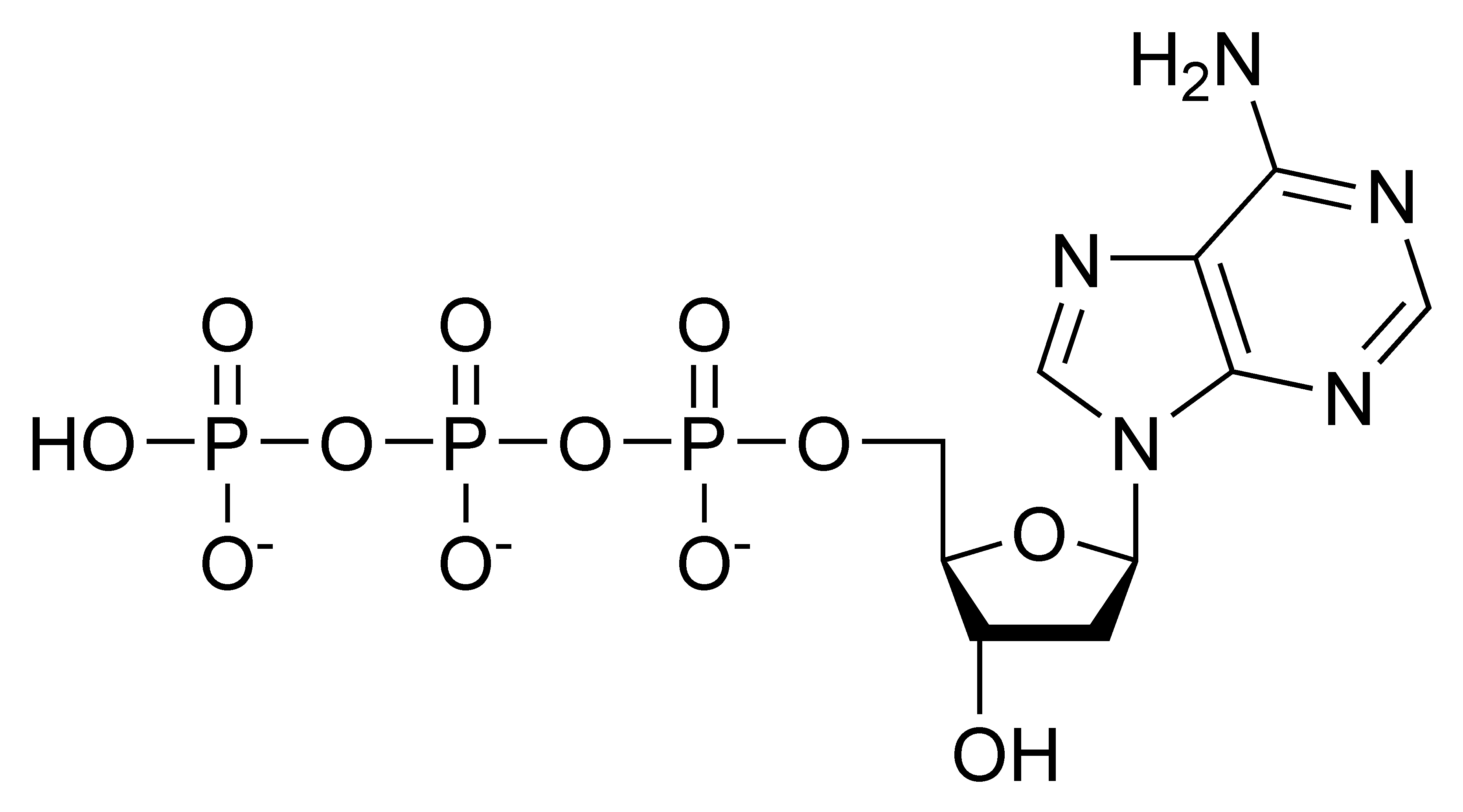 Chemical structure of deoxyadenosine triphosphate