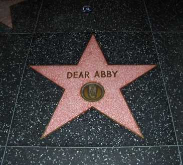Dear Abby star on the Hollywood Walk of Fame