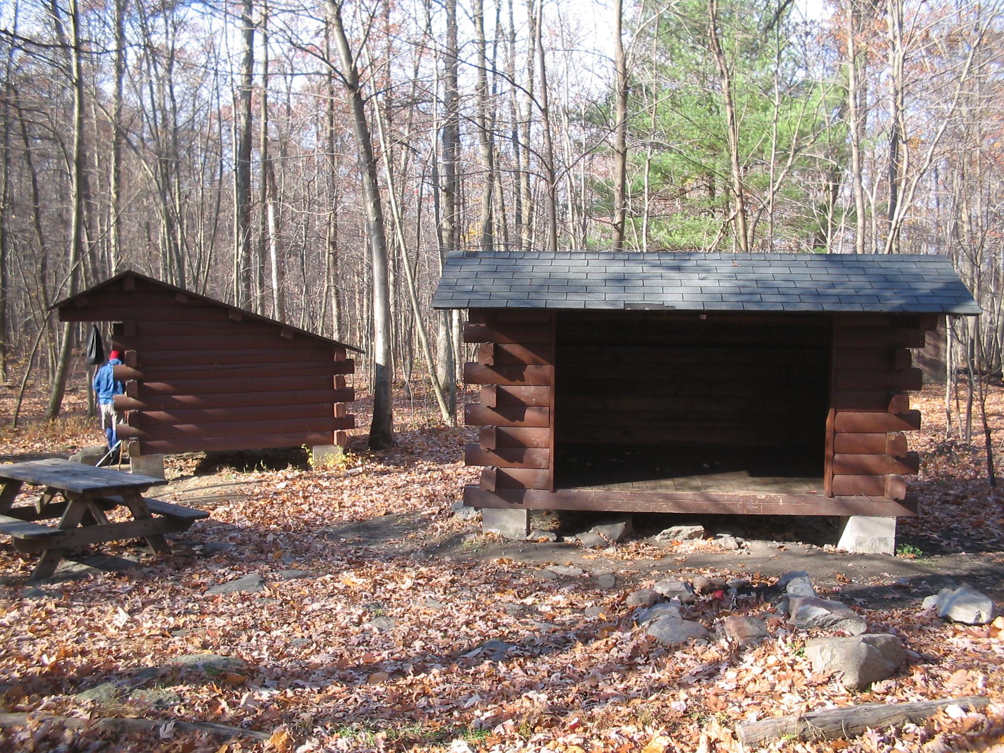 On deer trail appalachian shelter lick