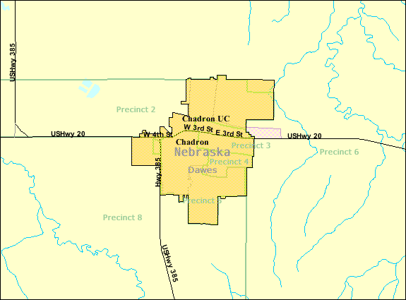 Chadron (NE) United States  city pictures gallery : Detailed map of Chadron, Nebraska Wikipedia, the free ...