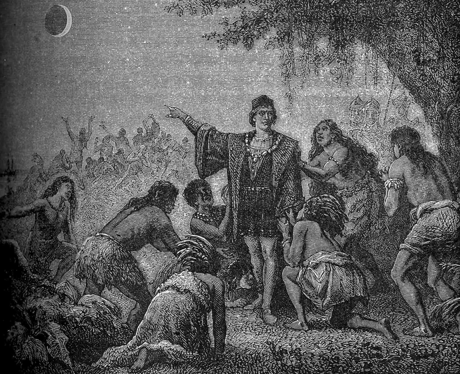 Image result for columbus and the lunar eclipse in jamaica