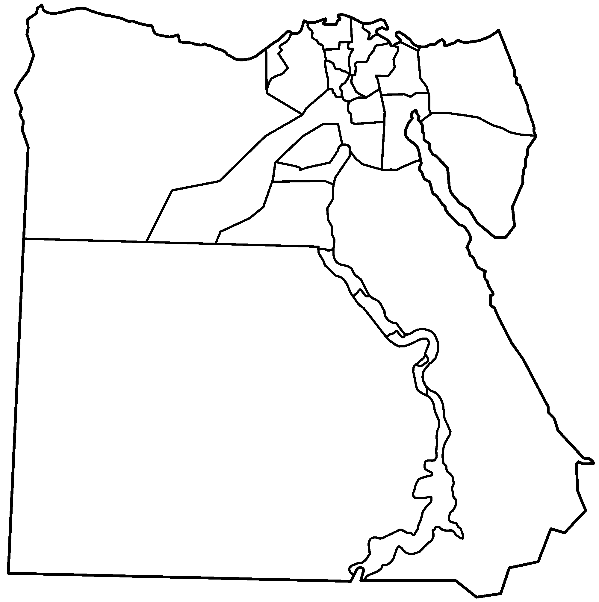 Egypt Map Outline Printable - Map of egypt outline printable