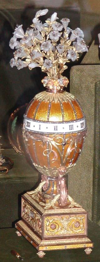 Nella foto: Un Uovo Fabergé, Uovo dei gigli (1899)