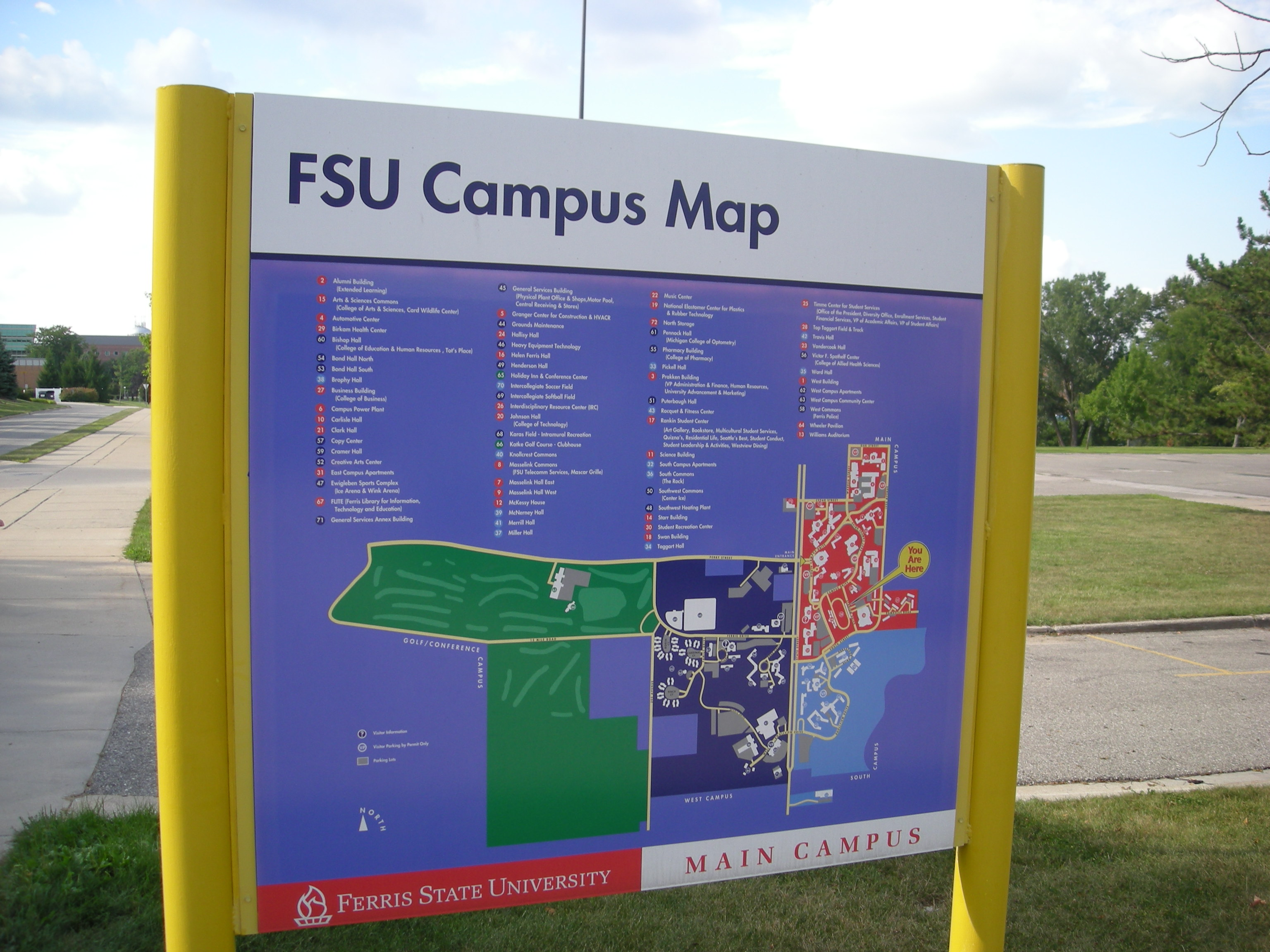 Ferris State Campus Map File:Ferris State University August 2010 04 (campus map).