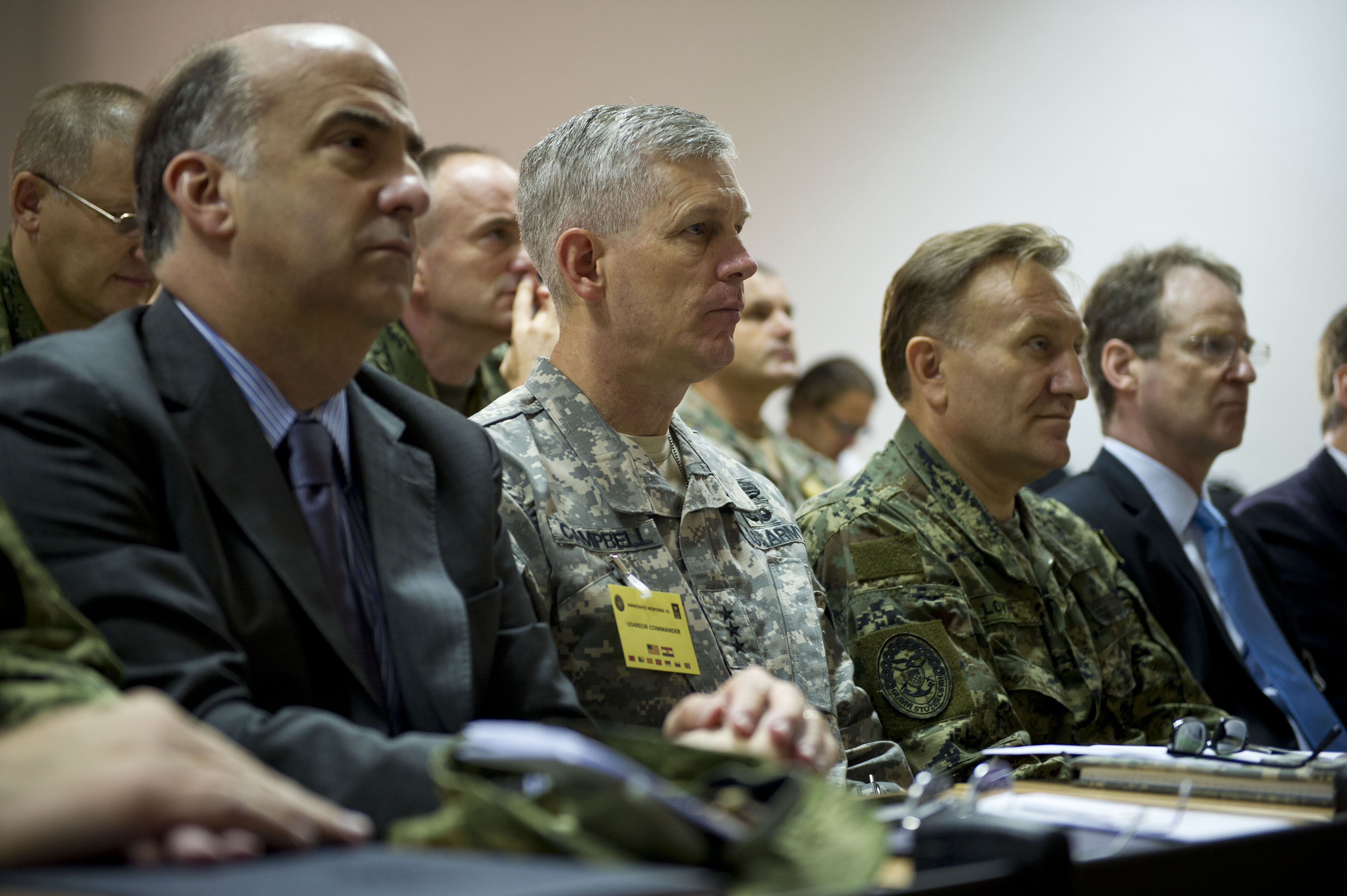 File From Left Kenneth Merten The U S Ambador To Croatia Army Lt Gen Donald Campbell Commanding General Of Europe And Croatian