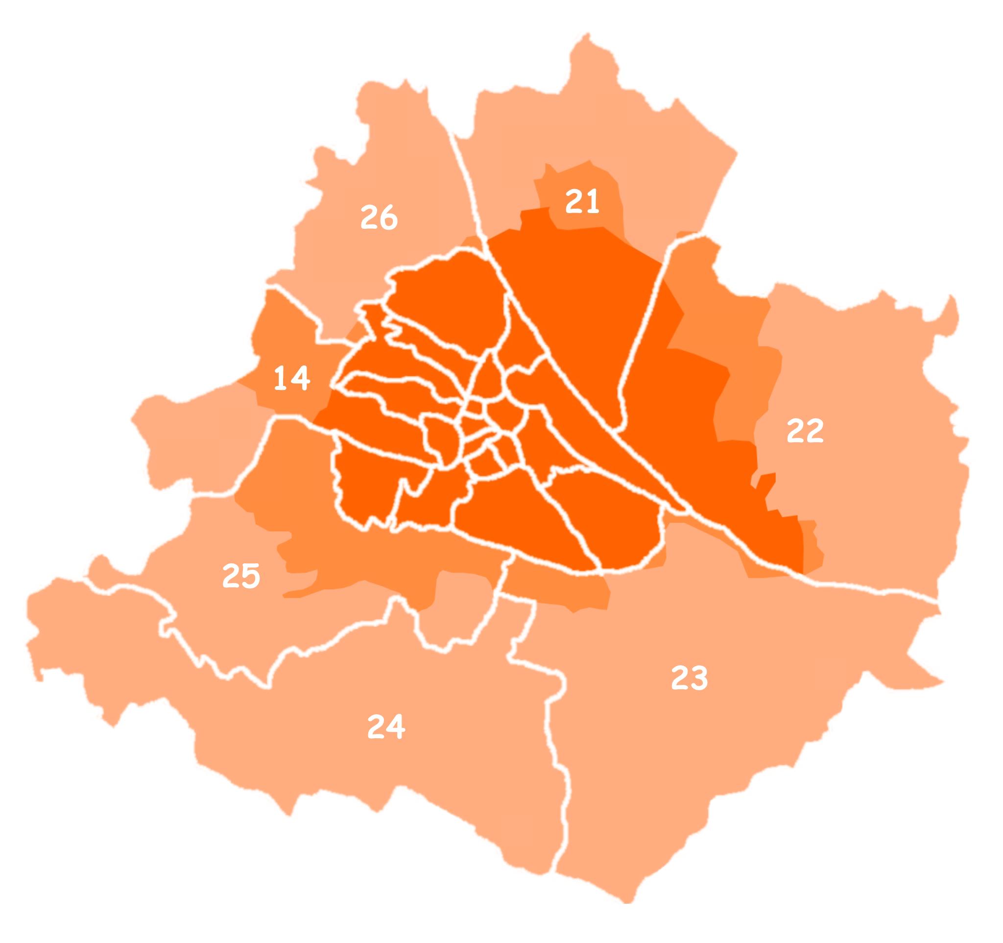 Wien Fläche