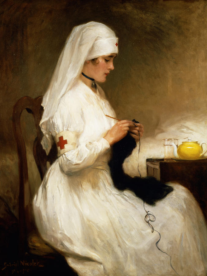 Painting of a nurse