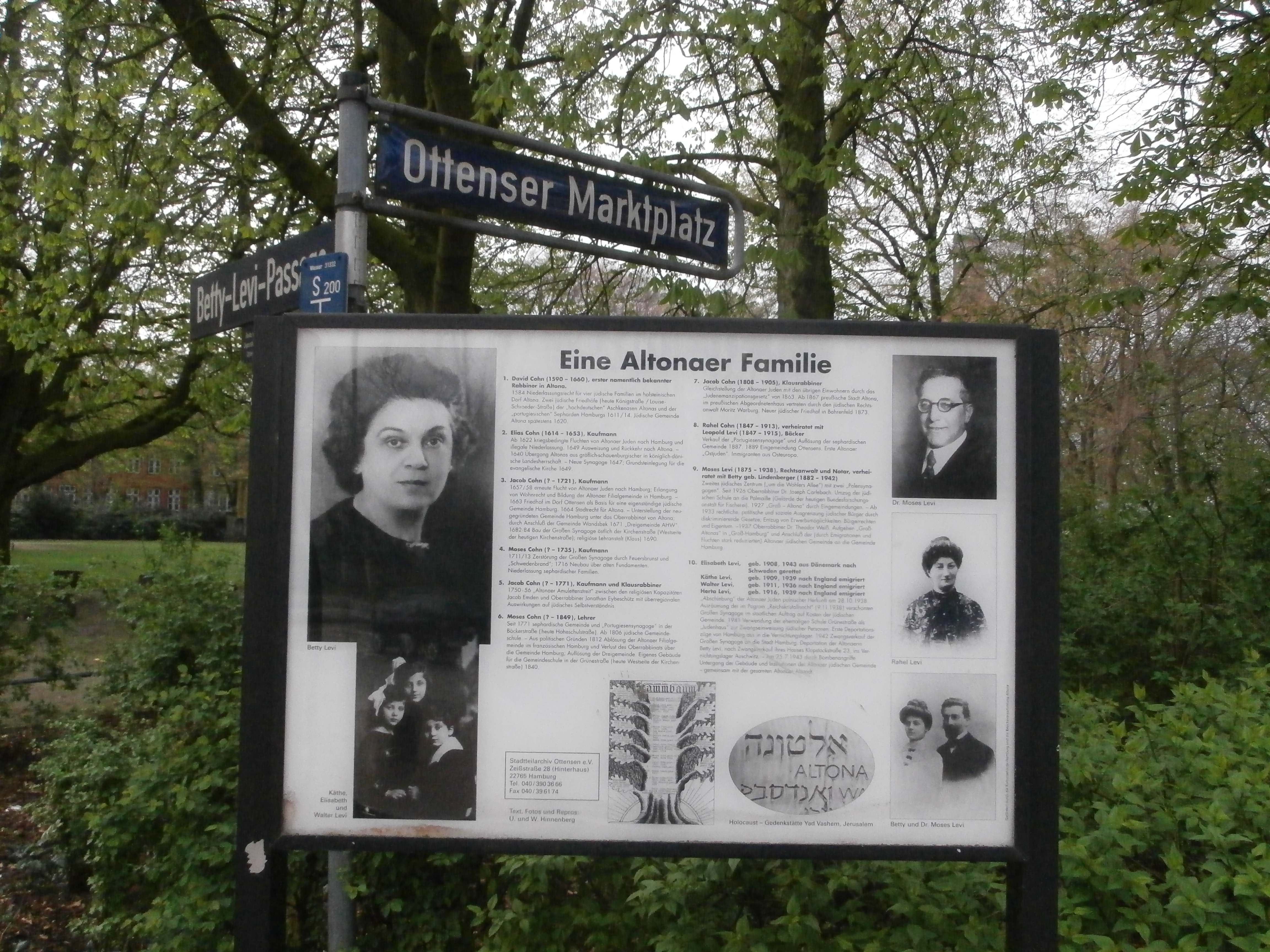 Dateigedenktafel Familie Levi Hamburg Altona Ottensenjpg Wikipedia