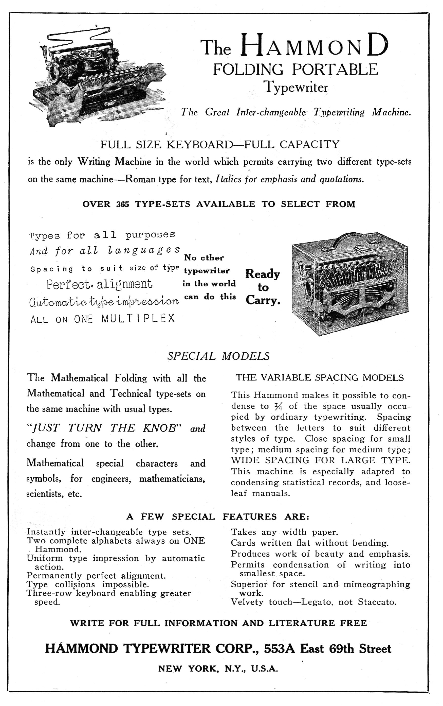 Filehammond folding portable typewriterg wikimedia commons thumbnail for version as of 0347 10 april 2015 buycottarizona Images