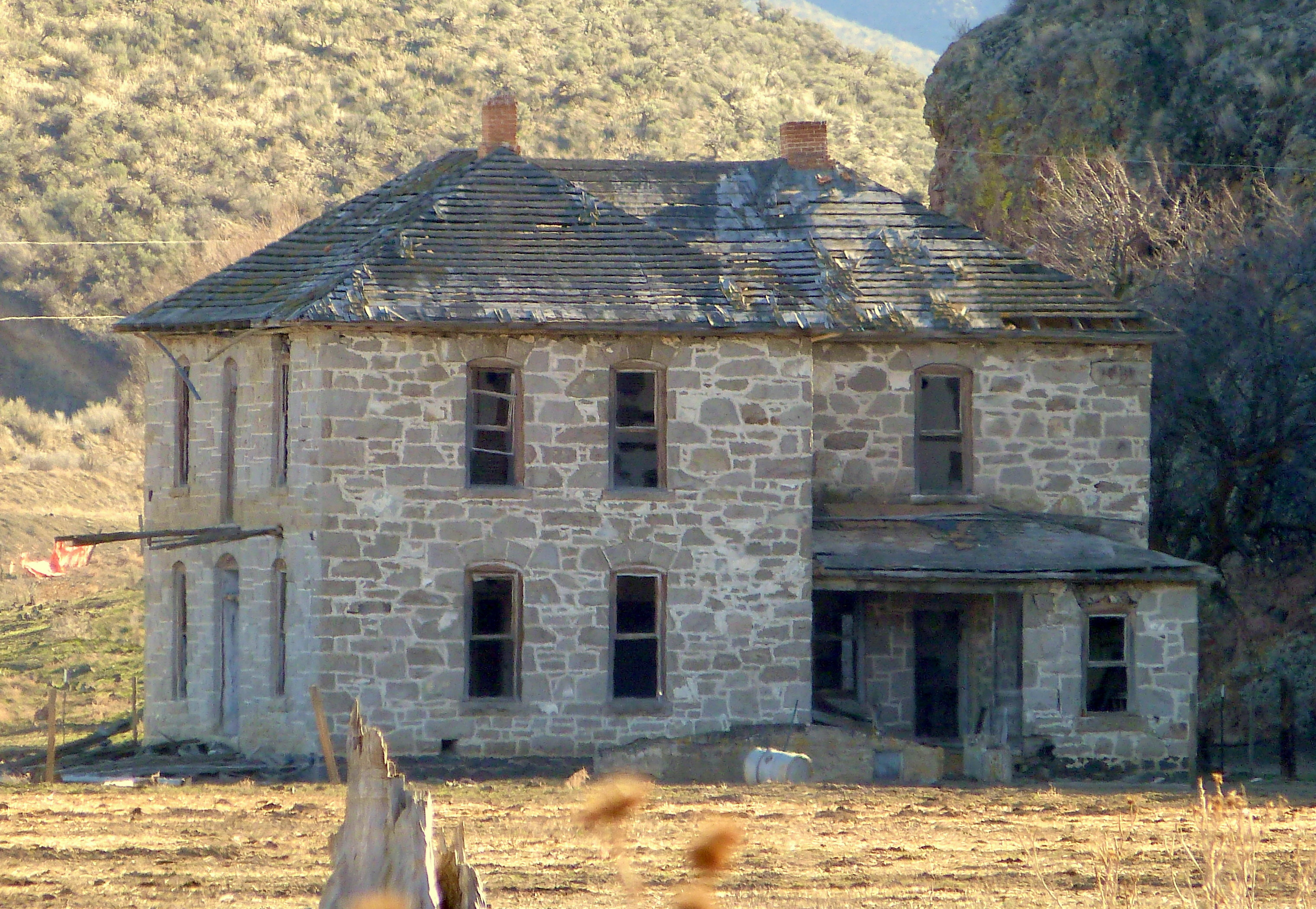 File Hart Stone House 2 Westfall Oregon Jpg Wikimedia