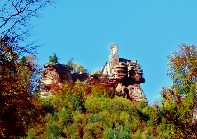 Burg Lützelhardt bei Obersteinbach (Elsass) - Château du Lützelhardt
