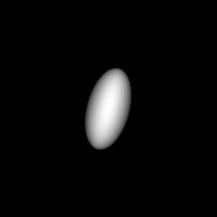 Mit dem Computer erzeugte Darstellung der Proportionen von Haumea
