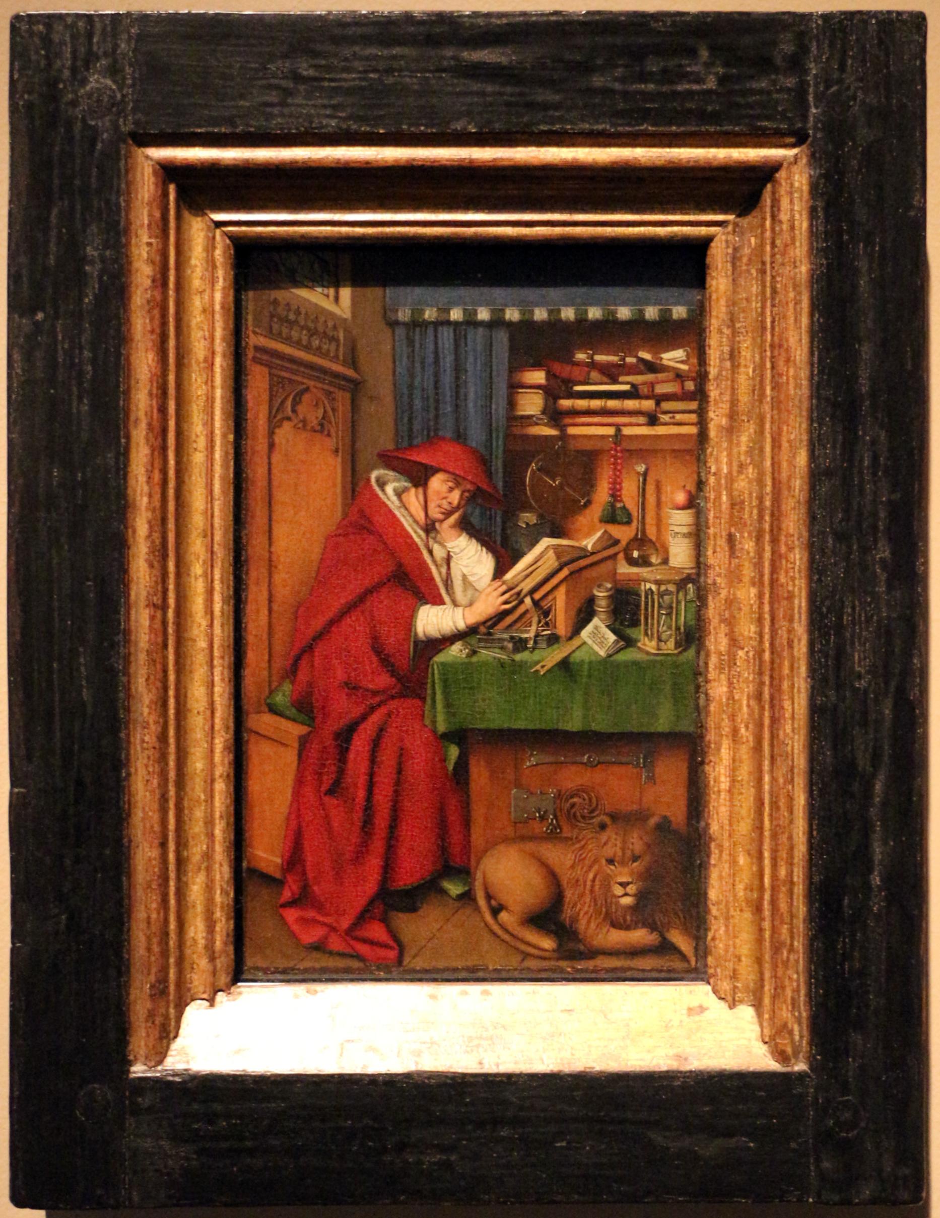 Wonderbaar File:Jan van eyck, san girolamo nello studio, 1435 ca. 01.jpg CL-13