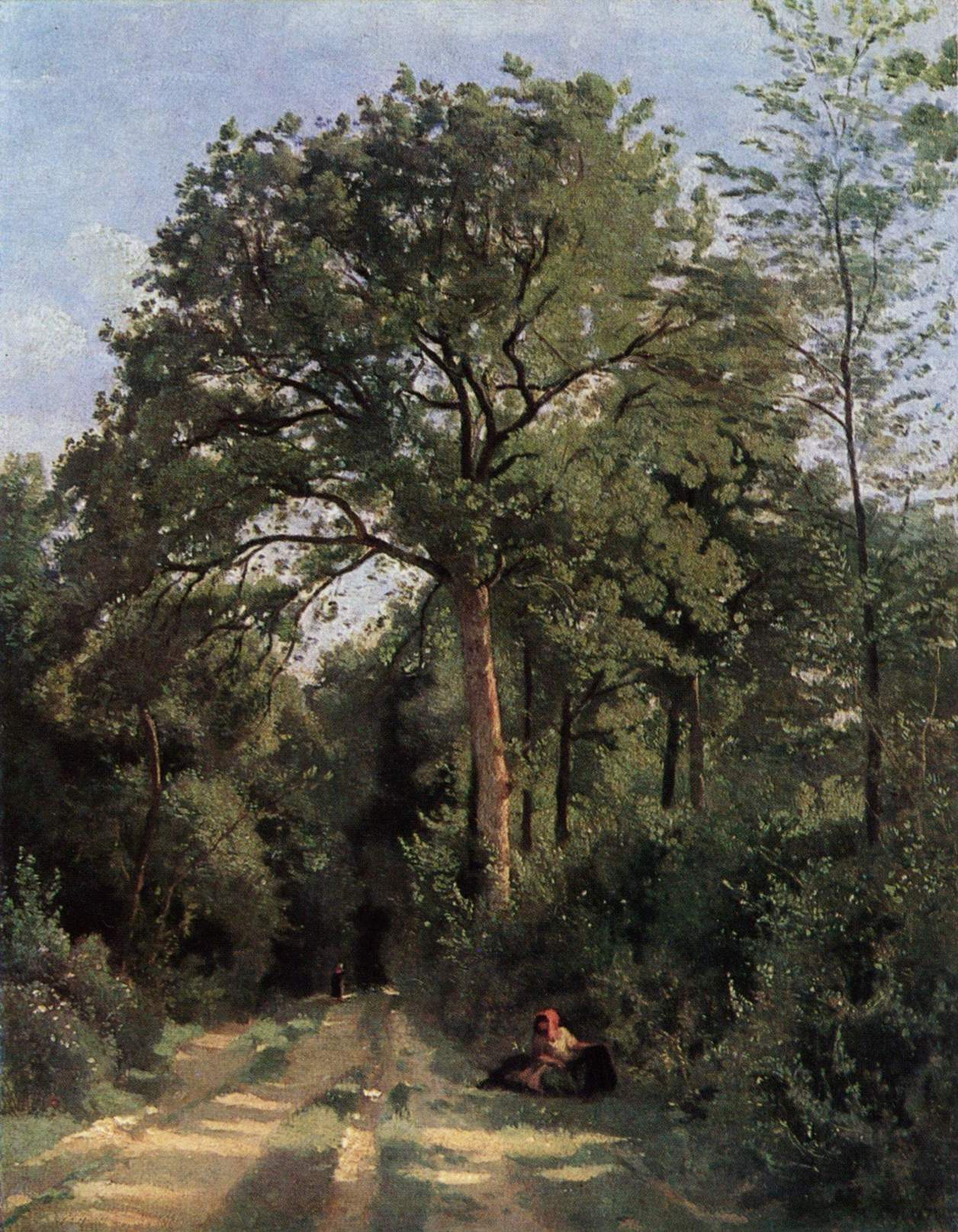 Ville d'Avray, Entrée du bois avec une vachère (1823-1825)