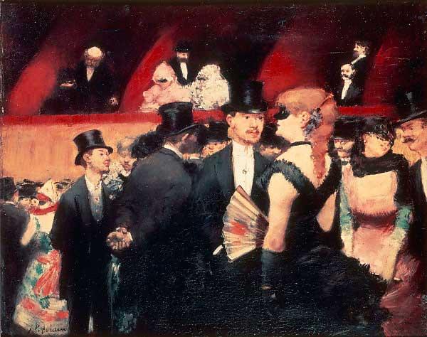 """Recenzje #77 - """"Opera Paryska Palais Garnier historia, sztuka, mit"""" - obraz pt. """"Bal w Operze"""" - Jean-Louis Forain 1880 r.- Francuski przy kawie"""