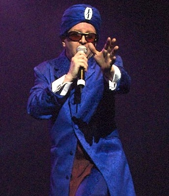 Casale as Jihad Jerry performing live with Devo in San Francisco, California, 2006 JihadJerry.jpg