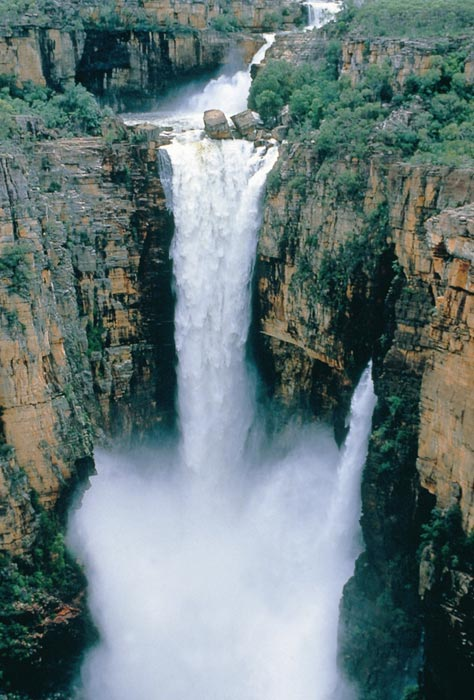 Foto vodpoádů Jim Jim Falls v Austrálii