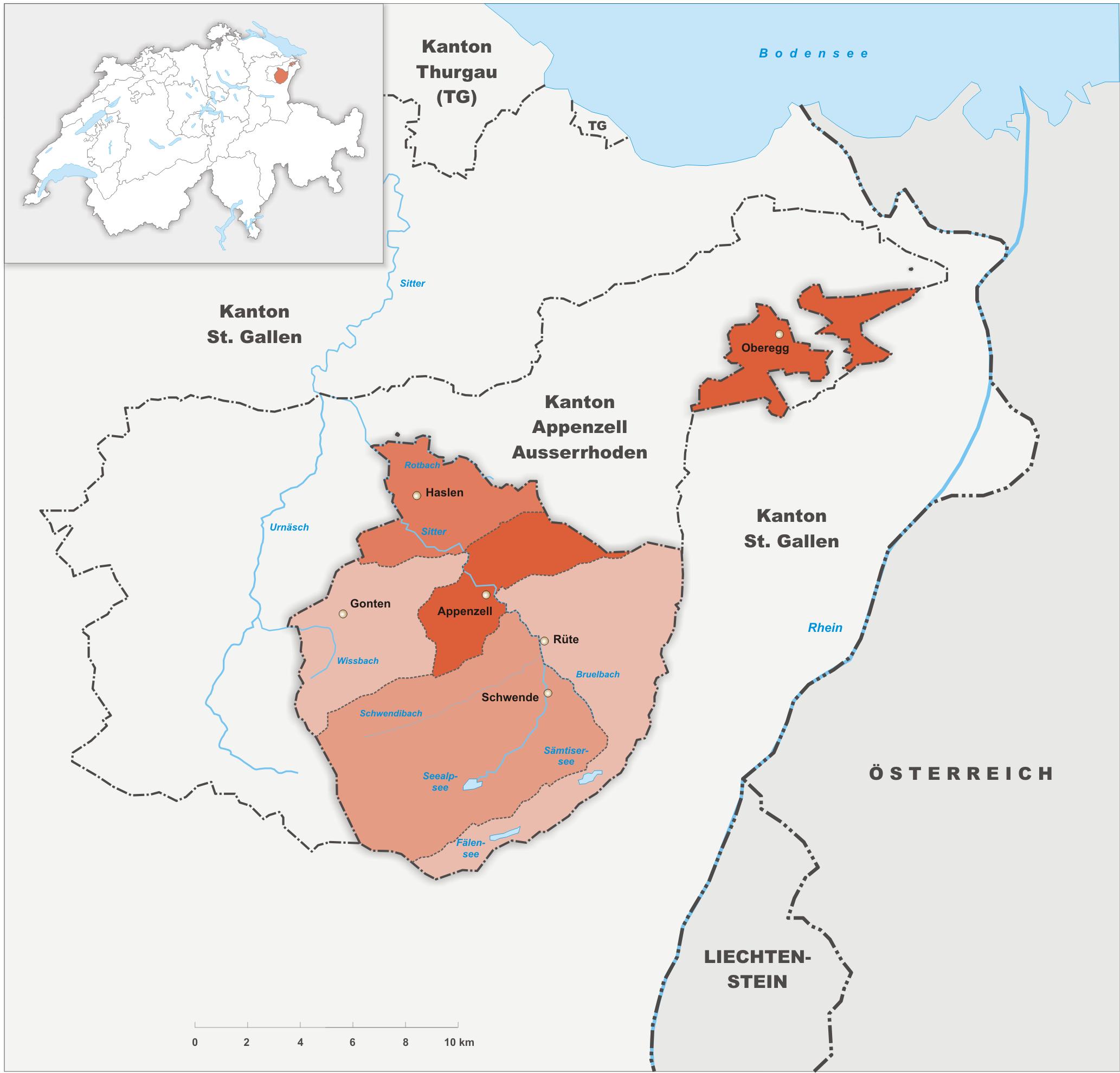 Bezirke des Kantons Appenzell Innerrhoden
