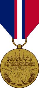 Kosovo Campaign Medal award