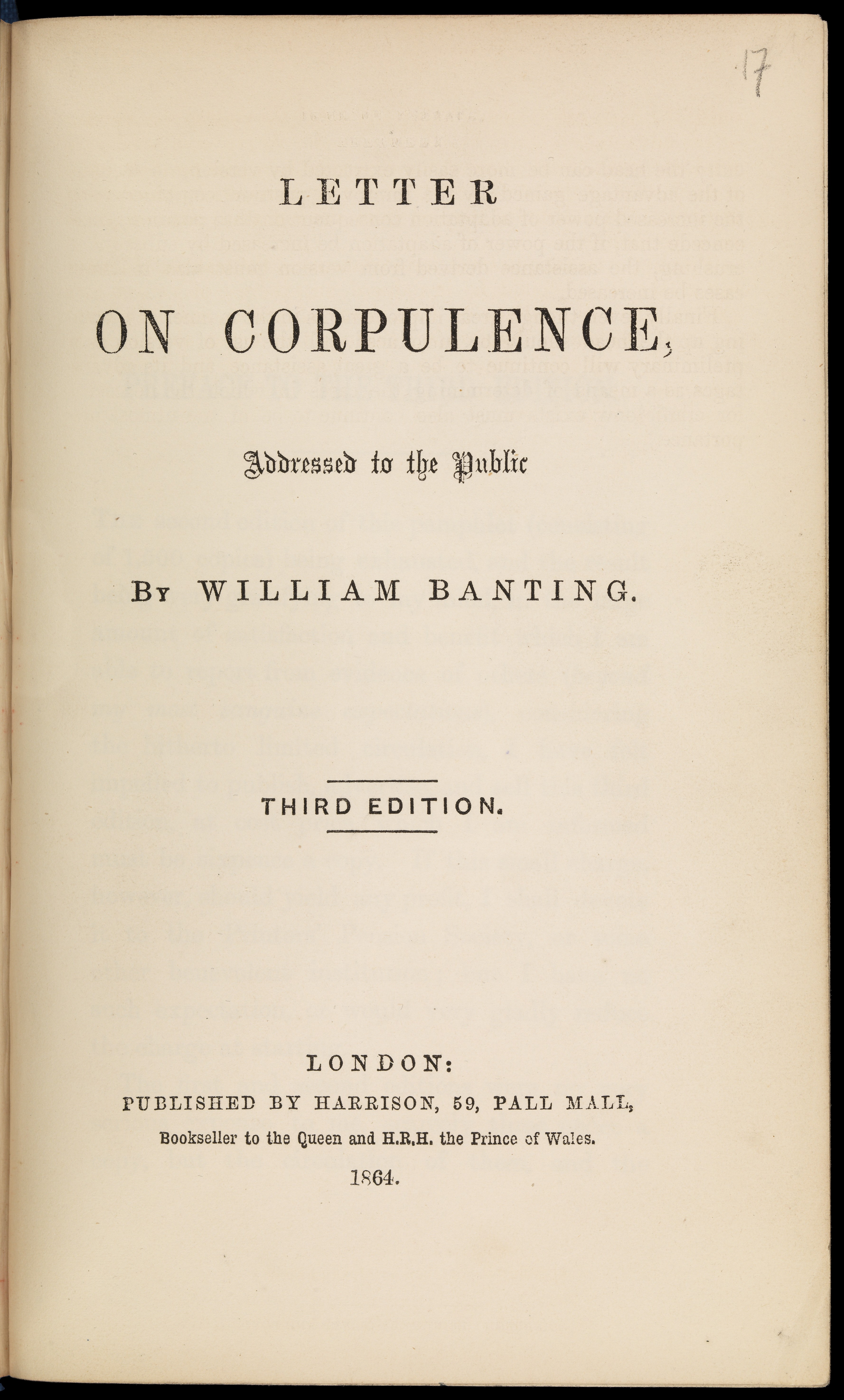 File:Letter on corpulence Wellcome L0068580.   Wikimedia Commons