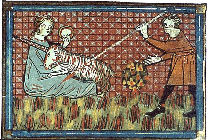 Richard de Fournival, Bestiaire d'amour, fin XIIIe siècle, Chasse à la licorne
