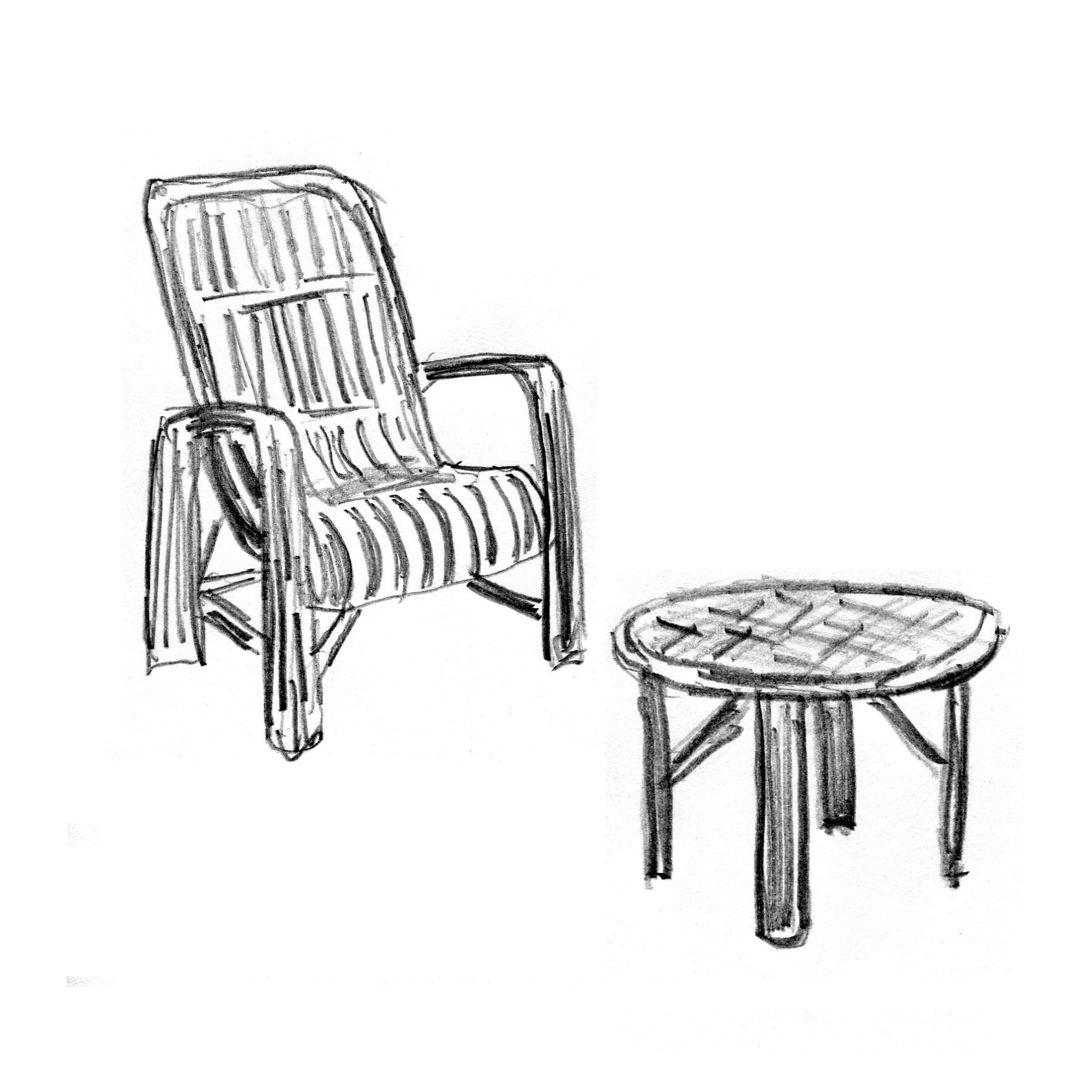 FichierLouis Sognot 415 Table Chaise Rotin 1950
