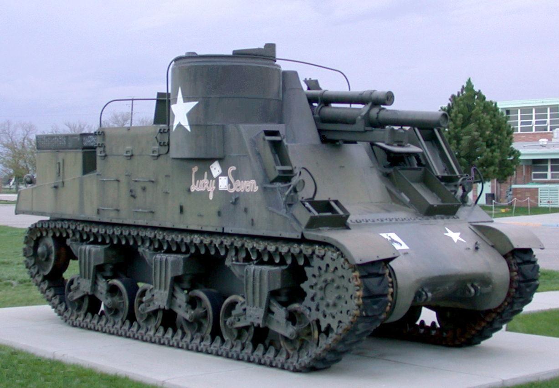 Description m7 priest self propelled 105 millimeter howitzer tank jpg