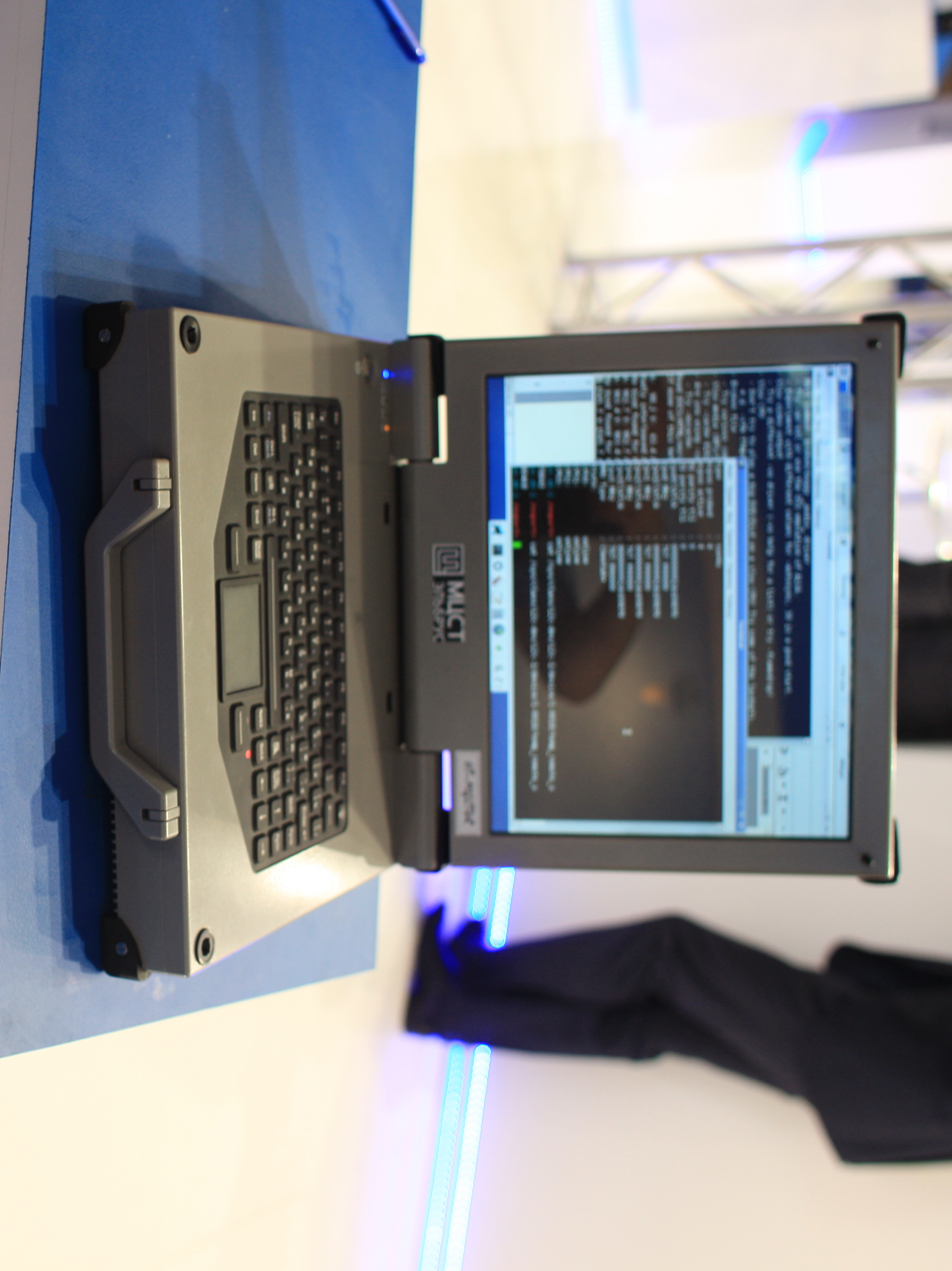 MCST_HT-R1000_Elbrus_laptop running some form of minimalistic linux desktop
