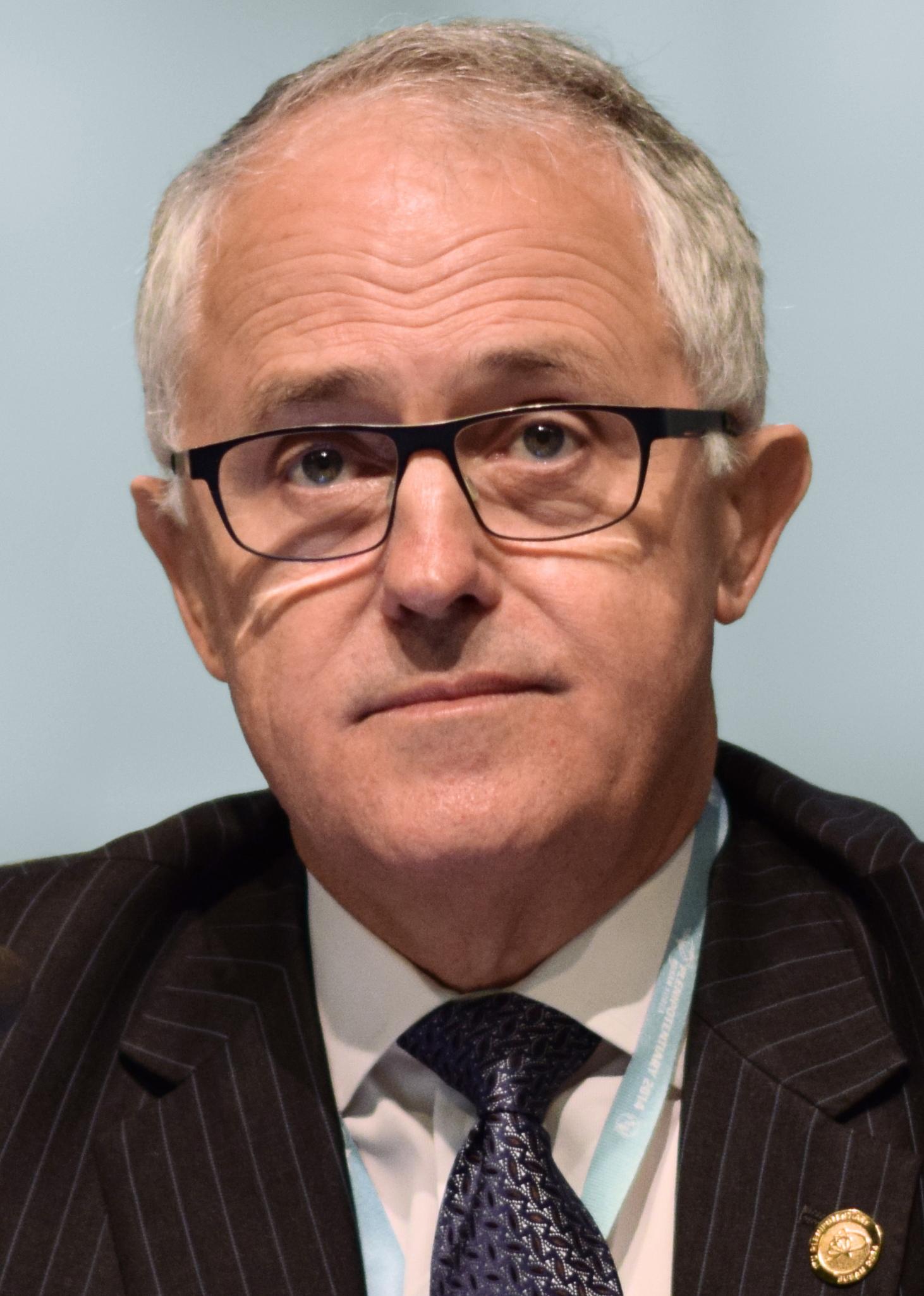 Malcolm Turnbull (Liberale Party) is die huidige eerste minister van Australië