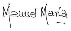 Manuel María Fernández Teixeiro, firma