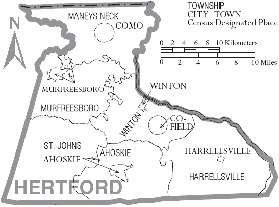 File Map Of Hertford County North Carolina With Municipal And