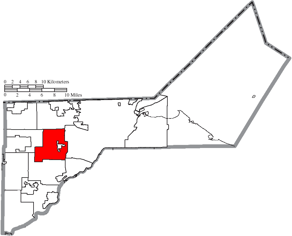 File Map Of Lucas County Ohio Highlighting Springfield Township Png