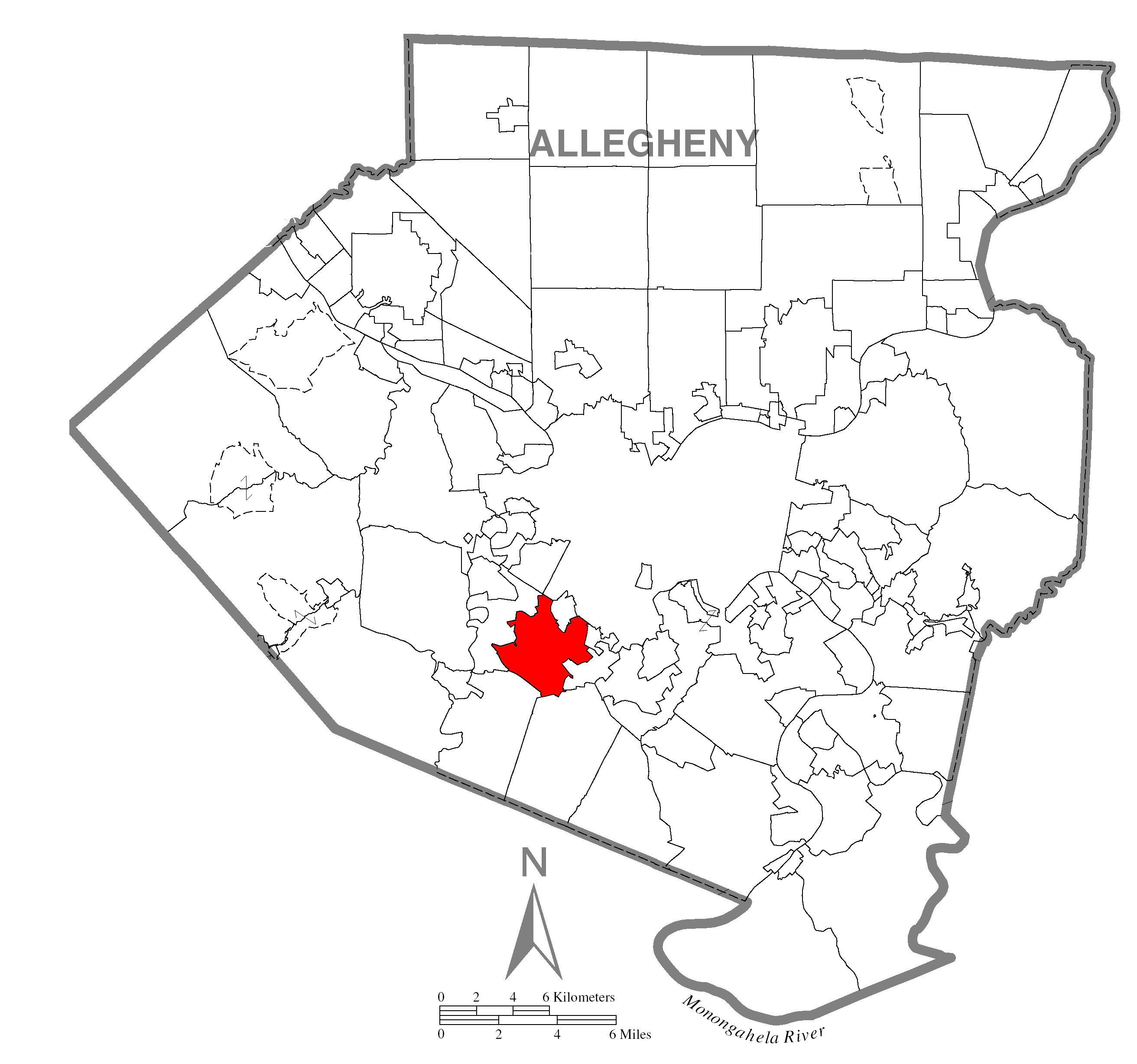 file map of mount lebanon township  allegheny county