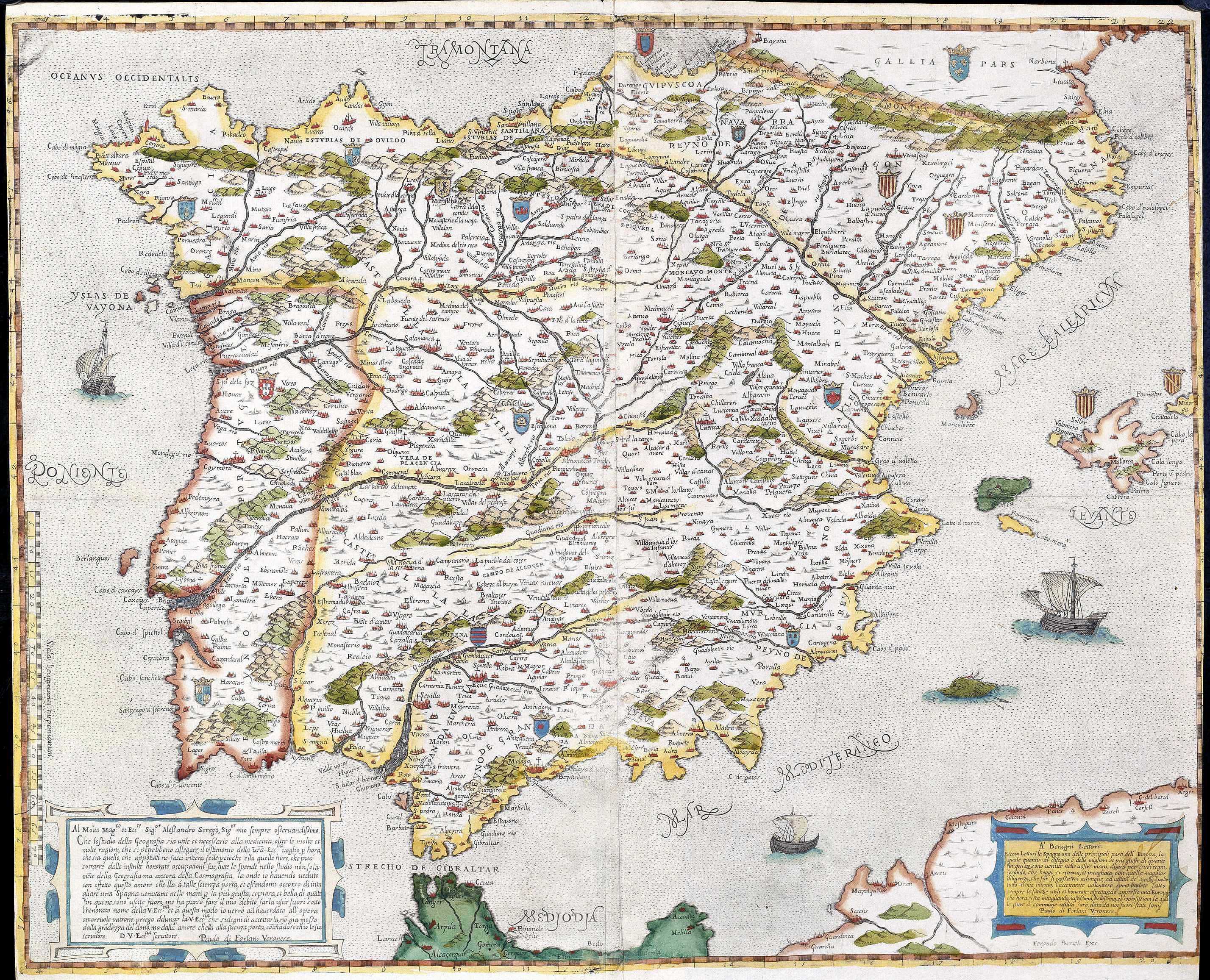 España Y Portugal Mapa.File Mapa De Espana Y Portugal Forlani De Veronese Jpg