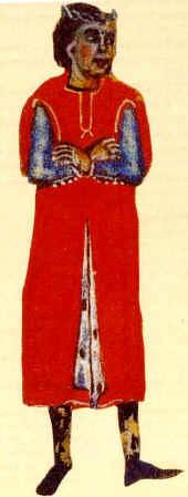 Marcabrú tal como aparece representado en un manuscrito del s. XIII. Biblioteca Nacional de Francia. MS cod. fr. 12473.