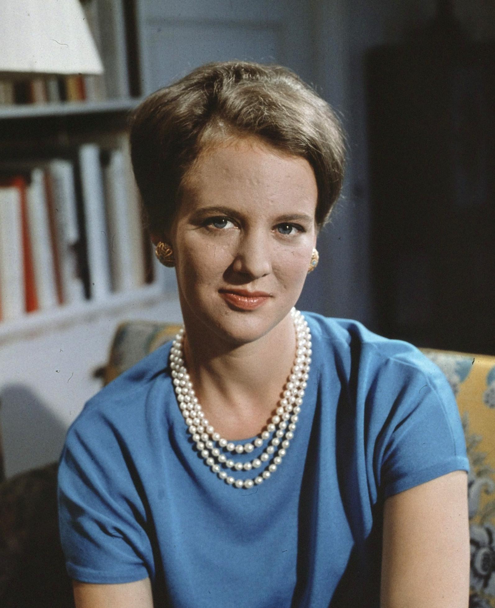 File Margrethe Ii Of Denmark 1966 Jpg Wikimedia Commons