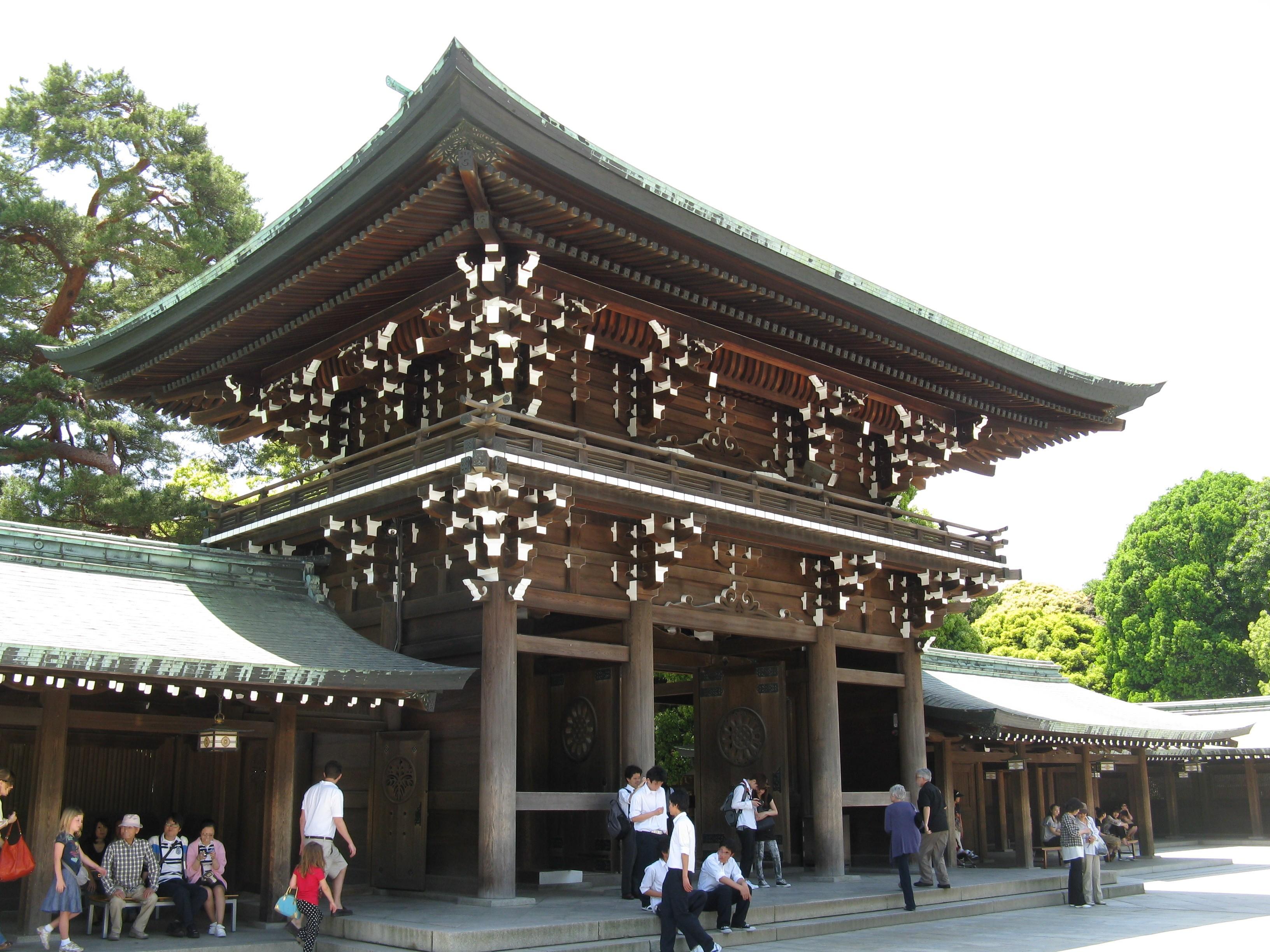 Main gate of Meiji Shrine, Shibuya ward, Tokyo, Japan [3264×2448] : ImagesOfJ...