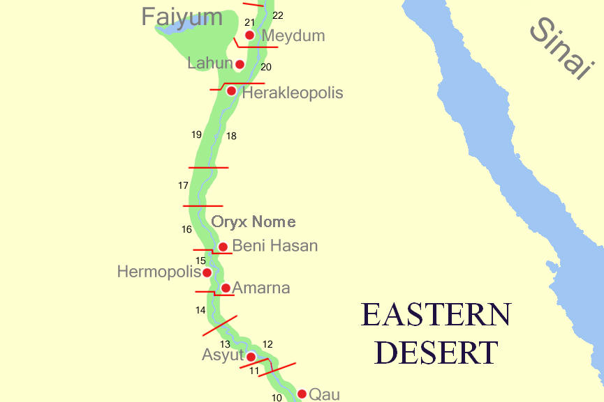 FileMiddle Egypt Nomesjpg Wikimedia Commons - Map of egypt during the middle kingdom